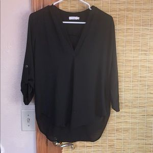Lush Black Blouse
